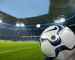 мяч на стадионе