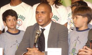 Роналдо Зубастик на пресс конференции